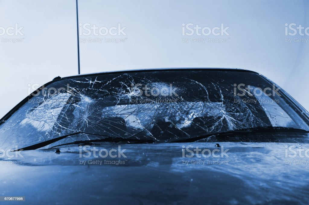 Car Accidental window stock photo