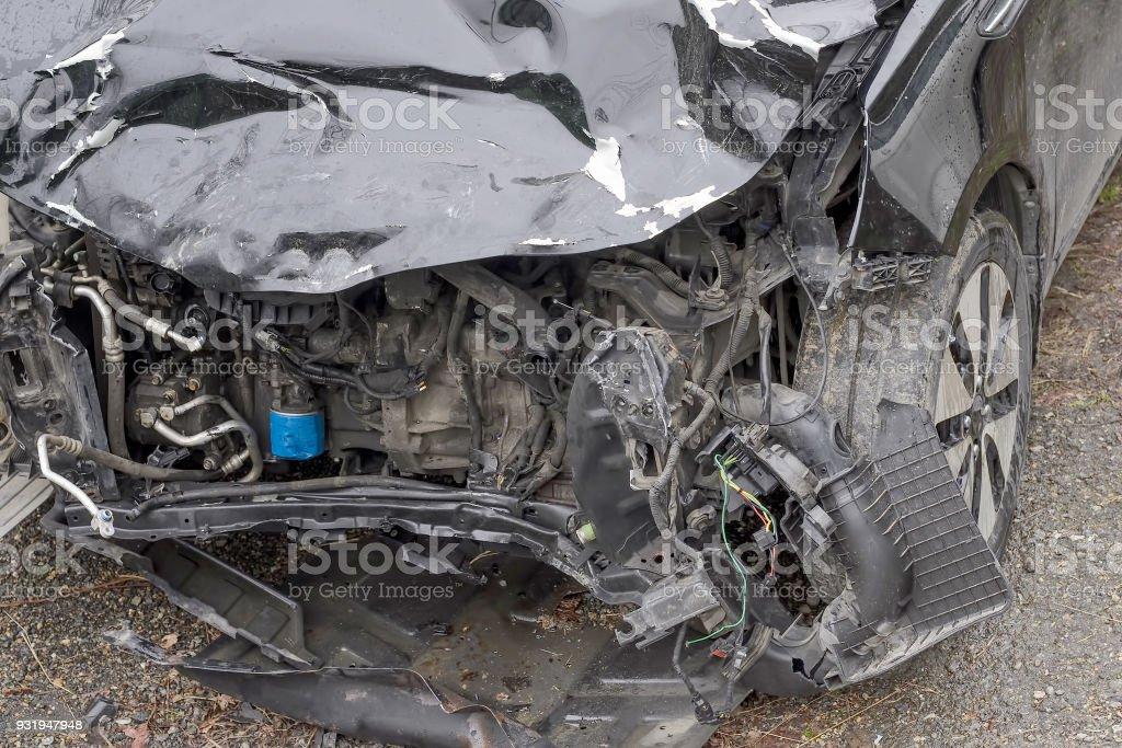 Car after a car crash