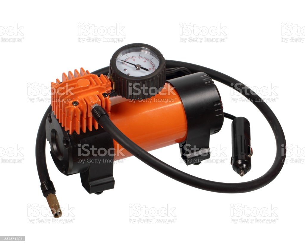Car air compressor stock photo