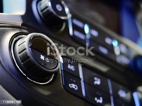 istock Car air conditioner and audio 1139581188