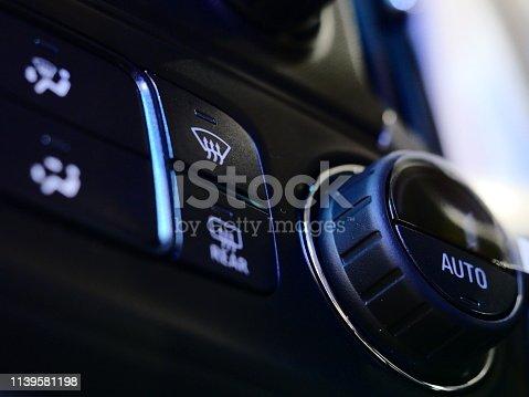 istock Car air conditioner and audio 1139581198