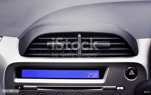 824789150 istock photo Car air conditioner in the front interior passenger. 824789120