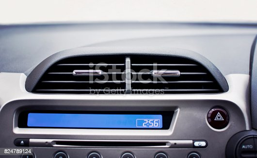 824789150 istock photo Car air conditioner in the front interior passenger. 824789124
