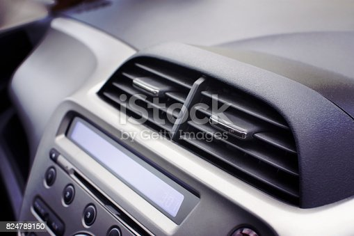 istock Car air conditioner in the front interior passenger. 824789150