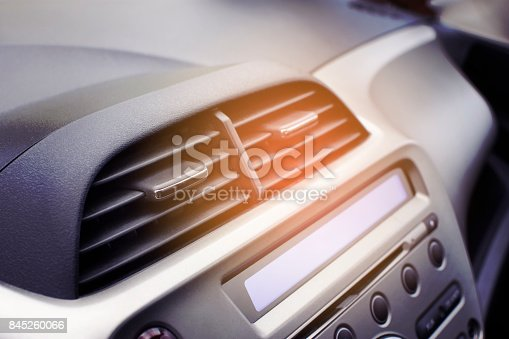 istock Car air conditioner in the front interior passenger. 845260066