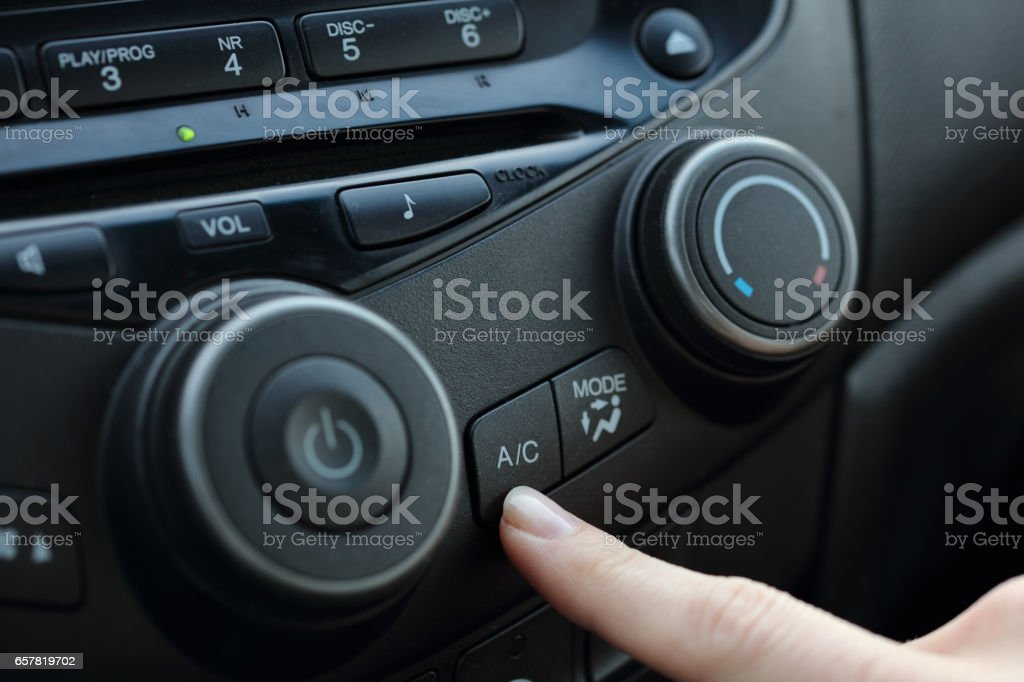 Car air conditioner service. stock photo