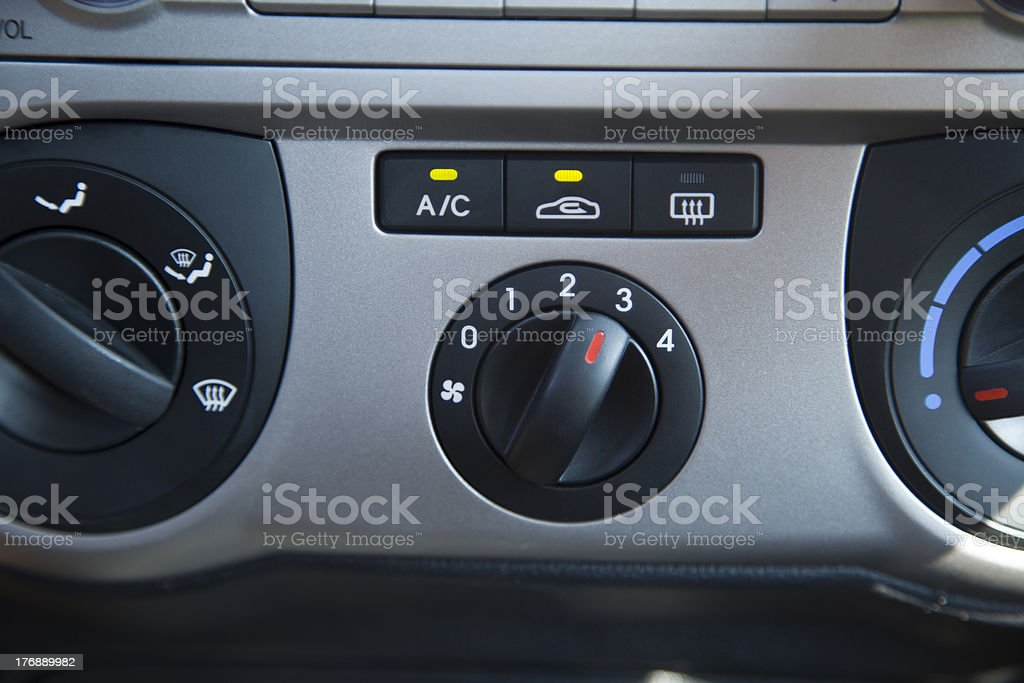 Car Air Conditioning Control Panel royalty-free stock photo