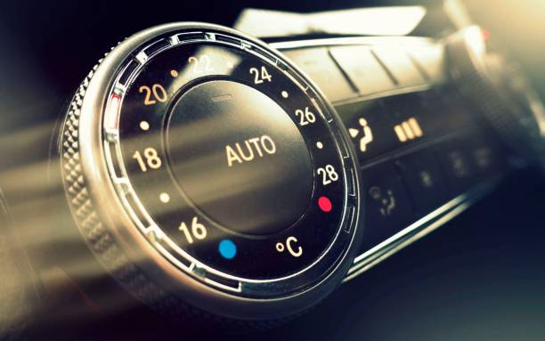 Car air conditioning control stock photo