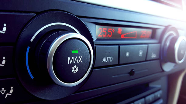 car air conditioning - dashboard vehicle part stock photos and pictures