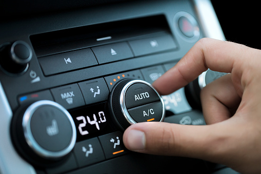 istock Car air conditioning 615793348