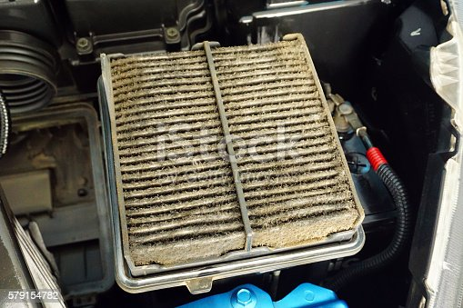 istock Car Air Filter dirty 579154782