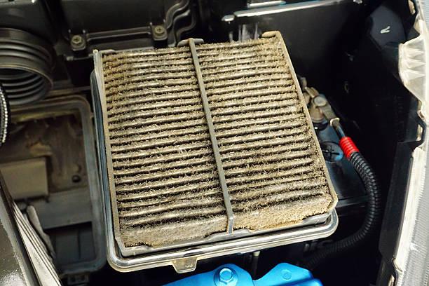 car air filter dirty - luftfilter stock-fotos und bilder