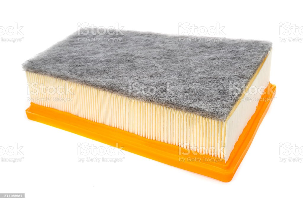 Car Air Filter isolated on white stock photo
