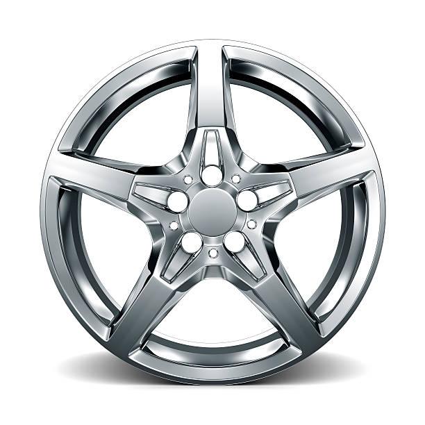 car alloy rim on white background - legering bildbanksfoton och bilder