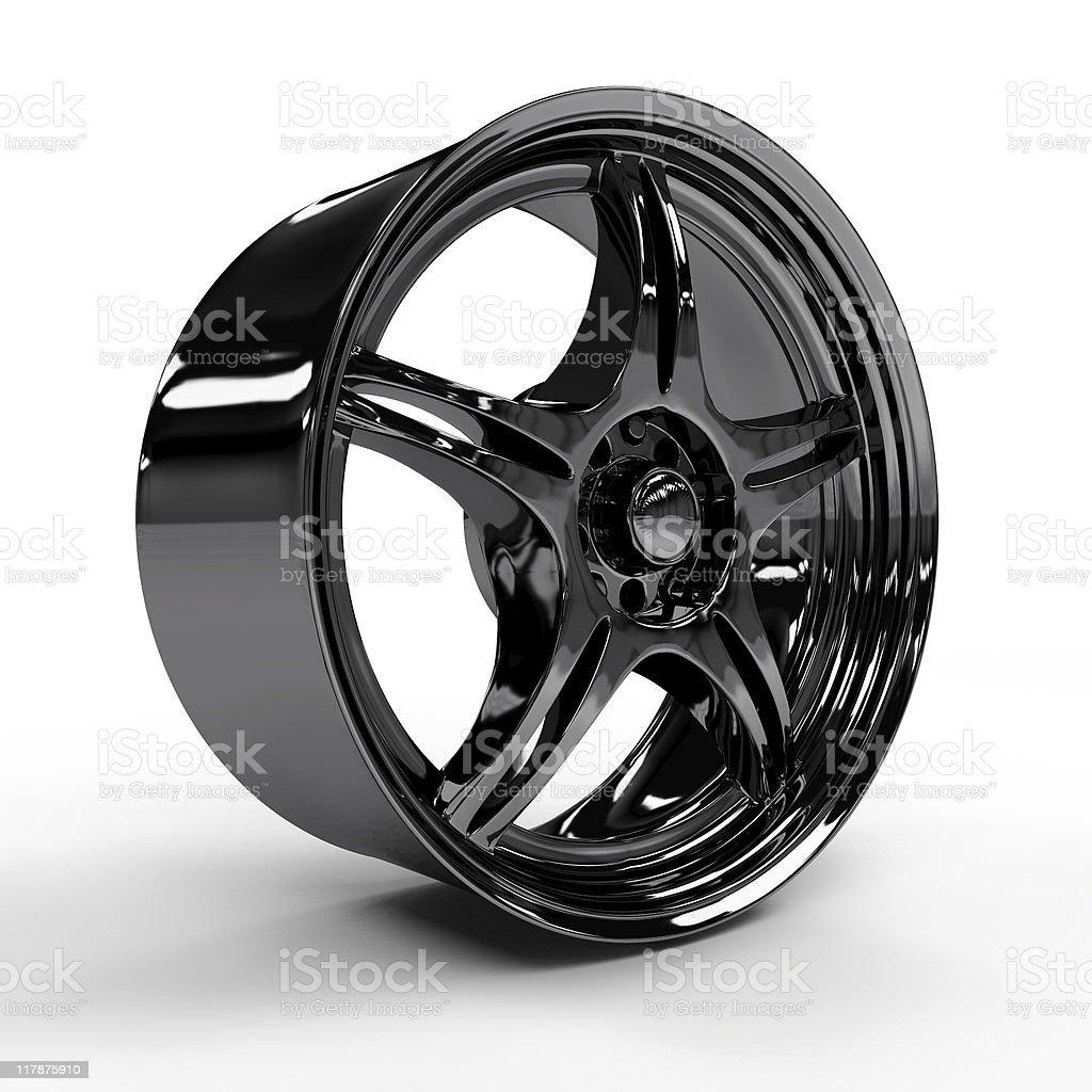 Car alloy rim royalty-free stock photo