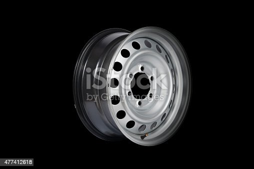 istock Car alloy wheel 477412618