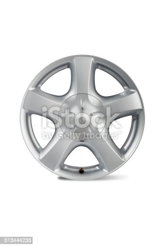istock Car alloy wheel 513444235