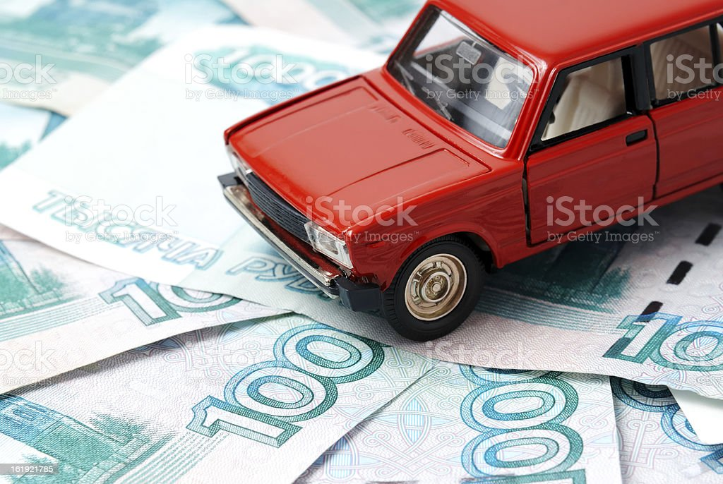 Car and money royalty-free stock photo