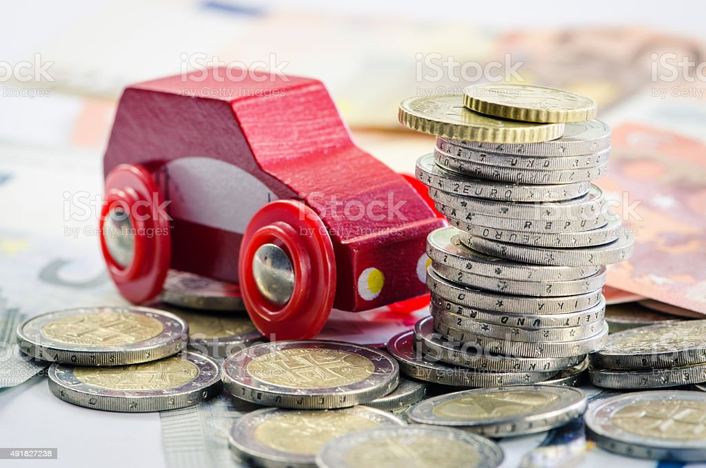 car and money stock photo