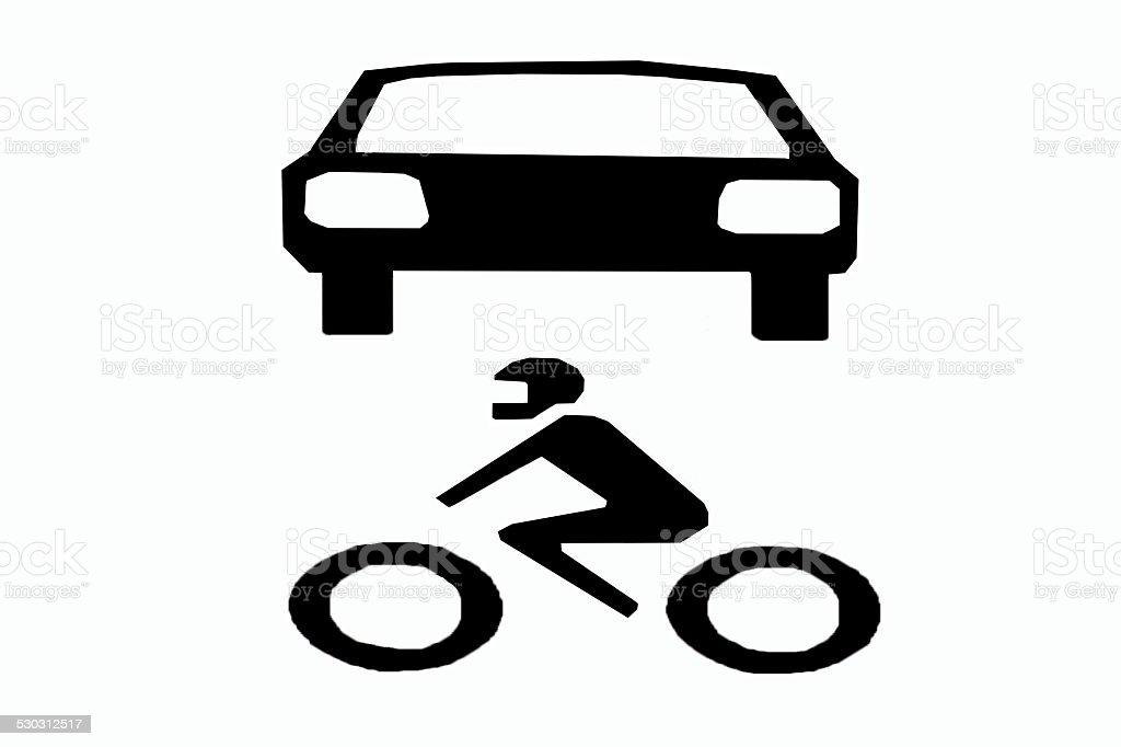 car and motor symbol stock photo