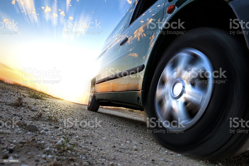 Car and speed. stock photo