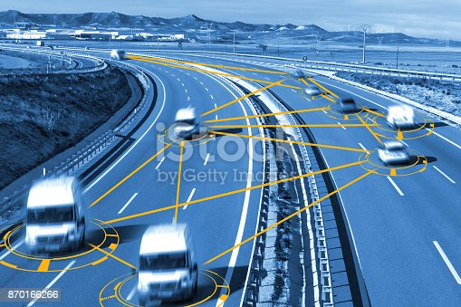 istock Car and technology. 870166266