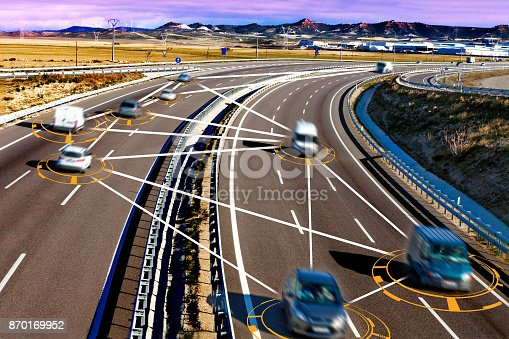 istock Car and technology. 870169952
