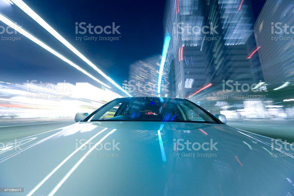 Car at night royalty-free stock photo