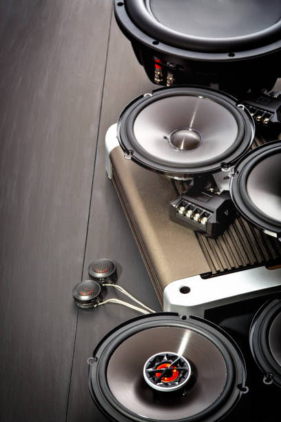 Car audio, car speakers stock photo