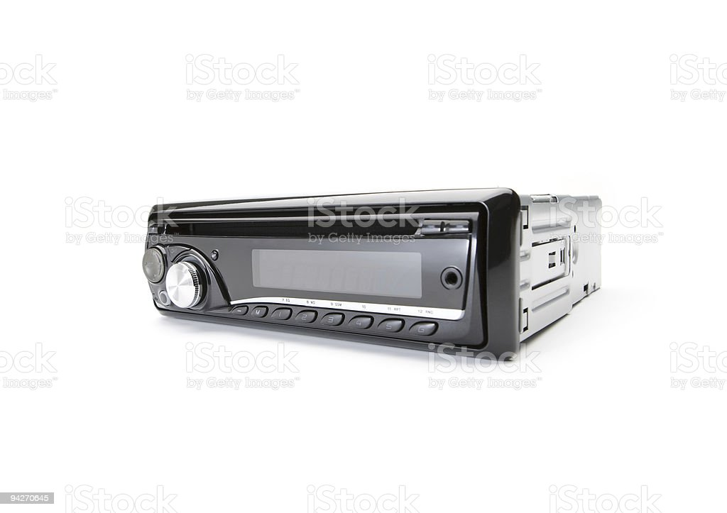 Car audio CD-Player stock photo