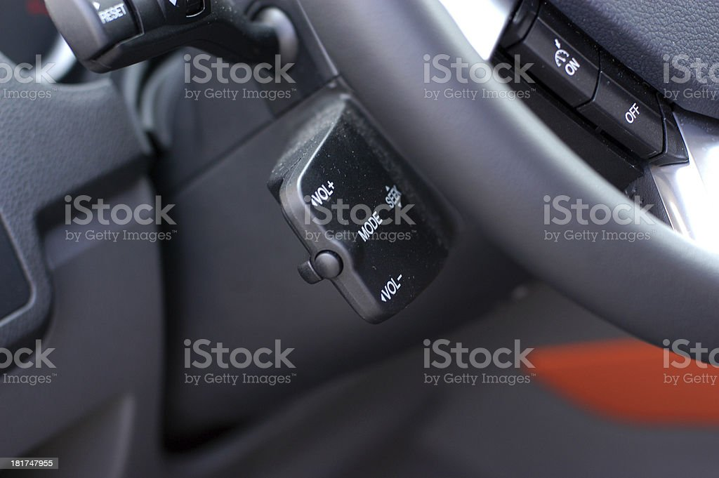 Car audio control buttons royalty-free stock photo