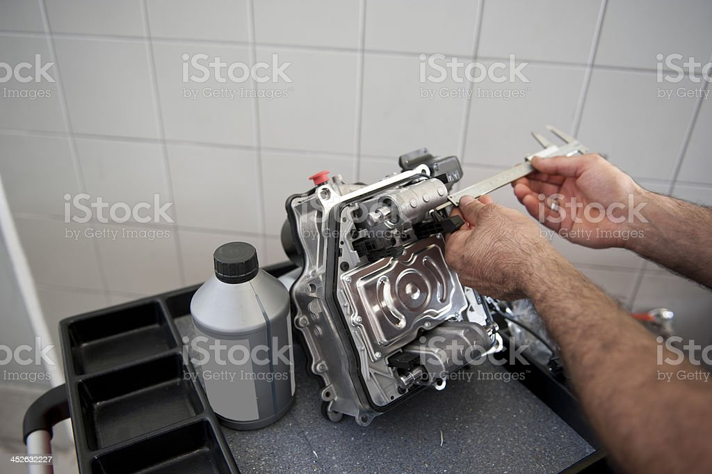 Car Automatic transmission stock photo