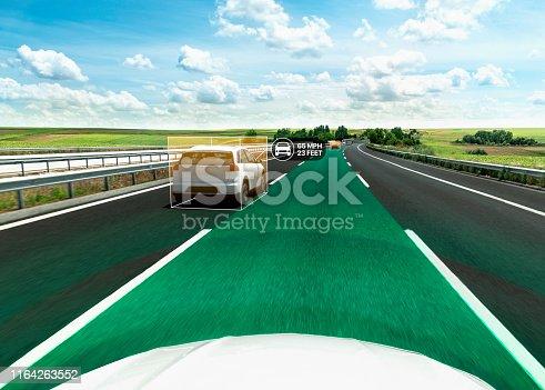 913581100 istock photo Car Autopilot 1164263552