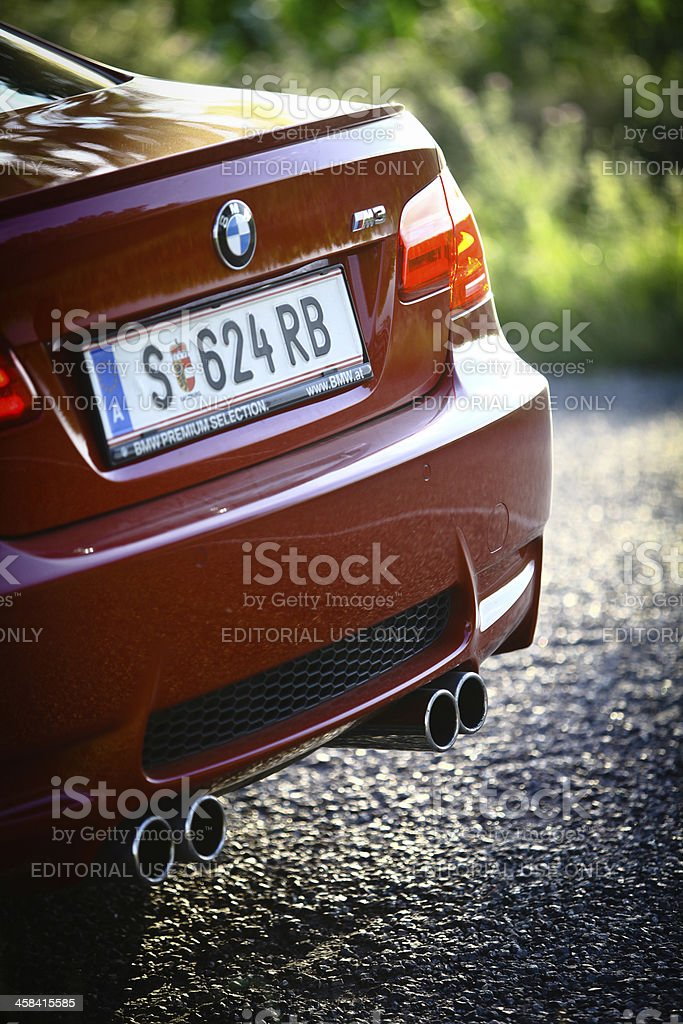 BMW M3 car back royalty-free stock photo