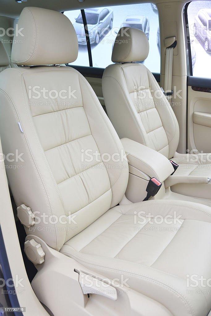 Car back seats stock photo