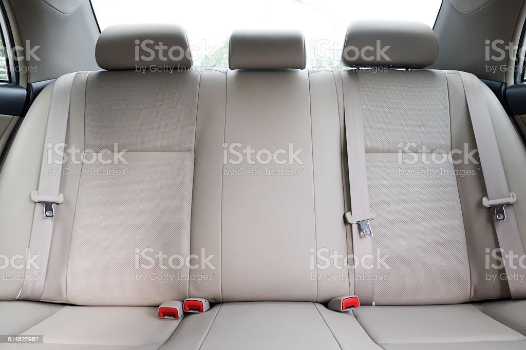 Car backseats stock photo