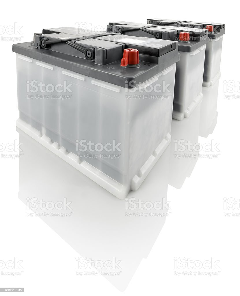 Car Batteries stock photo