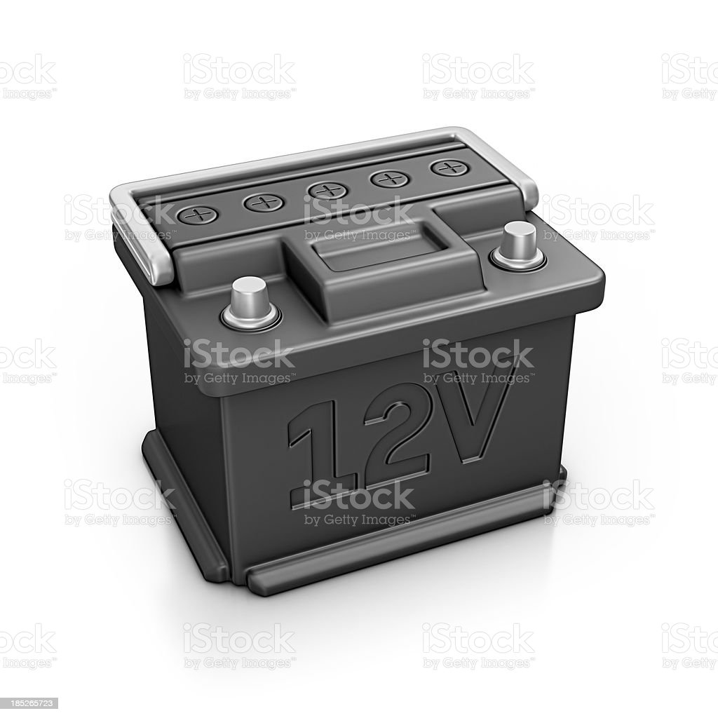 car battery royalty-free stock photo