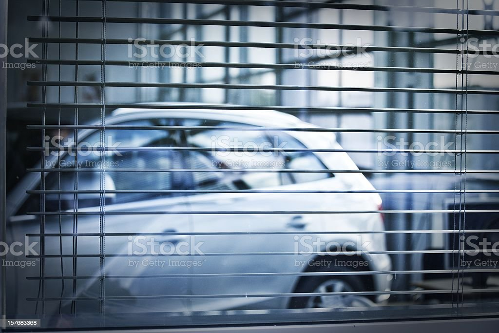car behind jalousie royalty-free stock photo