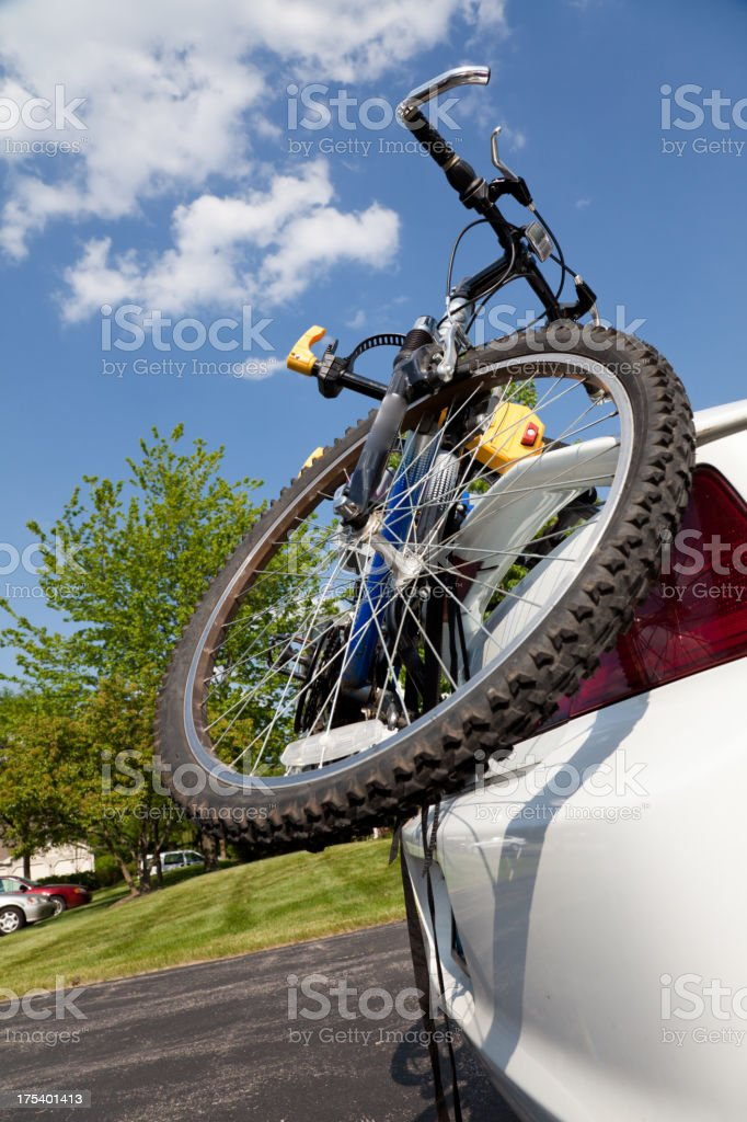 Car bike rack royalty-free stock photo