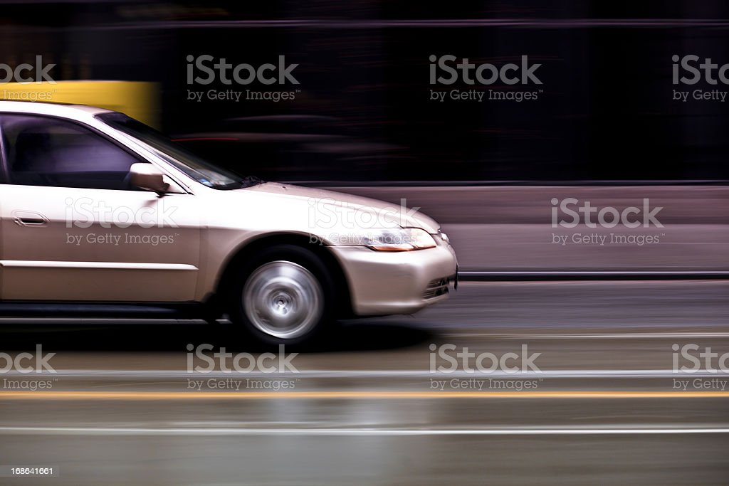 Car, Blurred Motion royalty-free stock photo