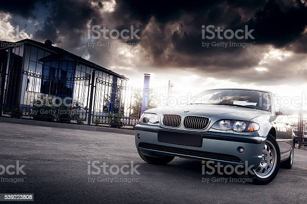 Car Bmw E46 Stay In The City At Sunset Stock Photo - Download Image Now