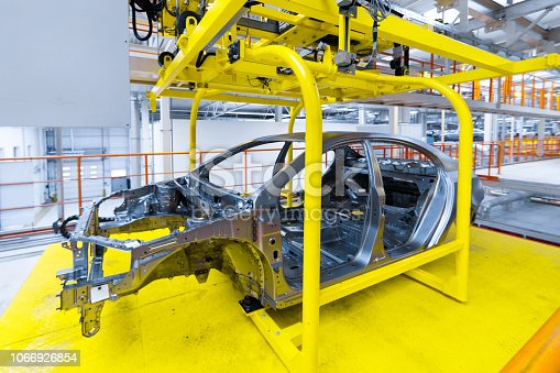 1069360792istockphoto car body at factory. company on manufacture of cars 1066926854