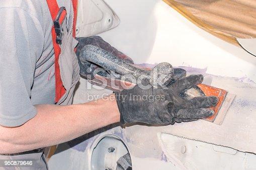 istock Car body repair 950879646