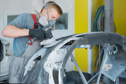 istock Car body repair 973379074