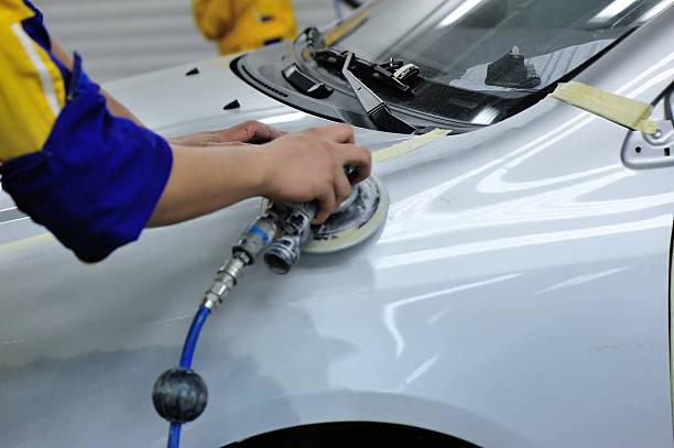 car body work stock photo