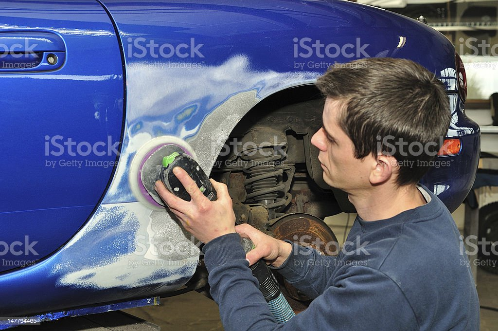 Car body worker. stock photo