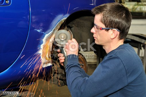 istock Car body worker. 177241278