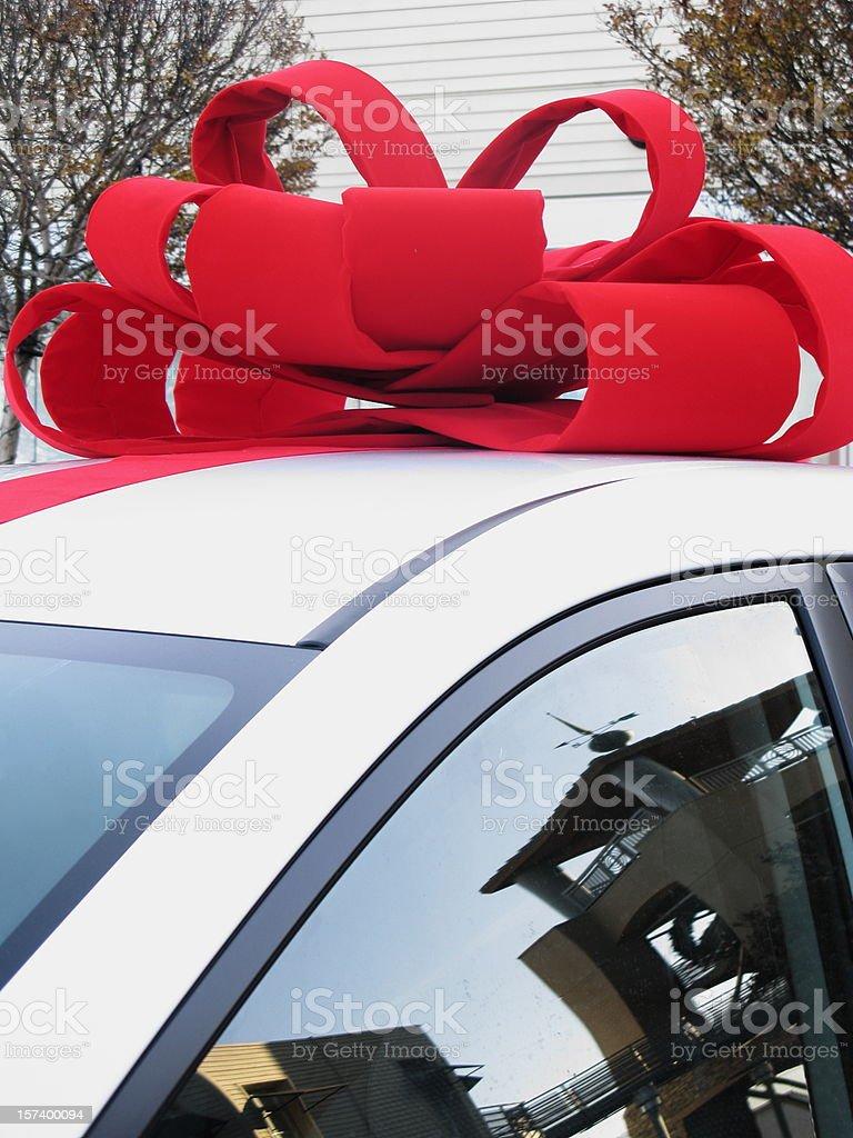 Car Bow Present Christmas royalty-free stock photo