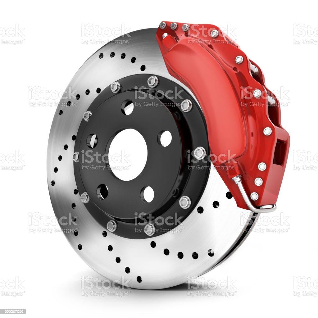 Car brake disk stock photo